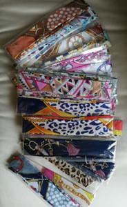 bolsas bolso Scraf cinturón de mango Mujer nuevos llegan las mujeres de imitación de seda de impresión monedero de la cartera original de la moda del hombro de bricolaje ARTE DE IE asas