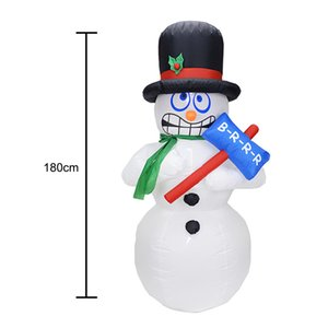 1.8M Height LED Giant Inflatable Snowman With Blower Garden Outdoor Layout Christmas Decor Cute Figure Kids Classic Toys Se24