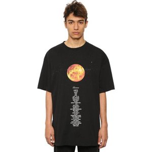 Vetements Planeta Impresso T-shirt preto Oversized Cotton T camisetas Homens Hip Hop Streetwear Tops manga curta O-Neck Casual TShirts NCI0812