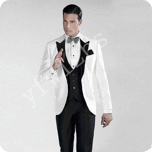 Custom-made Peak Lapel Groomsmen One Button Groom Tuxedos Men Suits Wedding Prom Dinner Best Man Blazer(Jacket+Pants+Tie+Vest) W176