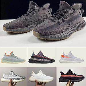 2020 zapatos de diseño Kanye West Cinder Tail Light Zebra V2 zapatillas Yecheil Negro estática reflectante hombres mujeres zapatos zapatillas de deporte de diseño