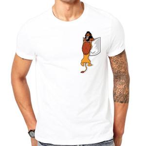 T-shirt des hommes de poche T-shirts Le Roi Lion Mufasa Scar trahit Vive le Roi Enfance Trauma