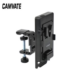 CAMVATE Quick Release V Lock Power Supply Splitter + V Lock Mount Wedge Kit + Robust C Clamp Mount Holder C2529