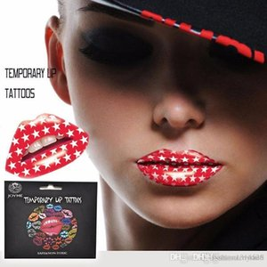 Women Lip Art Temporary Tattoo Sticker Transfers Fancy Dress Paper Material ,Safe And Non -Toxic .Lip Body Makeup