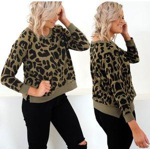 Nueva sudadera sexy con estampado de leopardo Moda para mujer 2018 Otoño Invierno Jersey de manga larga Sudadera con capucha suelta informal Top Femme Venta caliente
