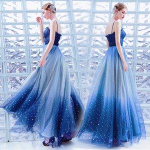 Arabic Женщина Звезда Блеск вечерних платья 2020 Новый Couture бретельки Формальной платье Shiny партия Pageant платье Платье
