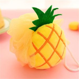 Creative Fruit shape Take a shower Bathing flower super soft bath ball Lovely and practical fruit bath flower T2I338