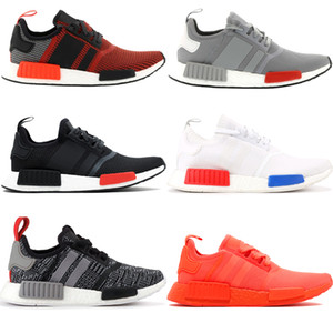 Nueva enorme del rojo NMD hombre R1 zapatillas luz onix táctil triple verde negro hombres blancos las mujeres zapatillas de deporte estilista LOS PRECIOS 36-45