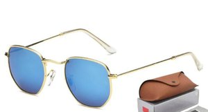 Top Quality style Brand Sunglasses Hexagonal Metal Sun Glasses irregular personality Fashion Coating Sunglasses with Retail Package 3548