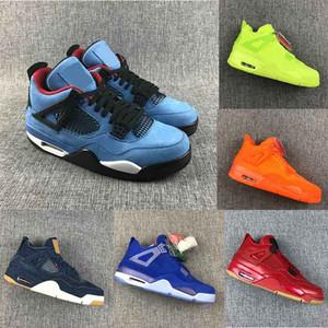 Nike air jordan retro 2020 Cement 4 Basketball Shoes  رجل إمرأة اسمنت 4 فون 4S IV ما الصبار جاك كول أحذية رمادي الرجال لكرة السلة FIBA UNC الفطر الدينيم رجال الرياضة أحذية مصمم