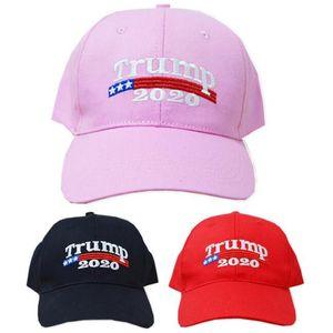 Embroidery Trump 2020 Baseball Caps Make America Great Again Donald Trump Hats Re-Election Baseball Cap Adults Sports Hat ball cap