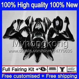 Körper für KAWASAKI ZX 10 R ZX1000C ZX10R 2008 2009 2010 Karosserie 217MY.1 Glänzend schwarz ZX 10R 1000CC ZX1000 ZX10R 08 09 10 Instrumentenausrüs