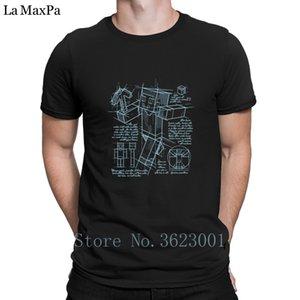 Minecraft Plan de caracteres de algodón para hombre Camiseta Camiseta Hombre envío divertido informal camiseta de los hombres Clever camiseta caballero delgado