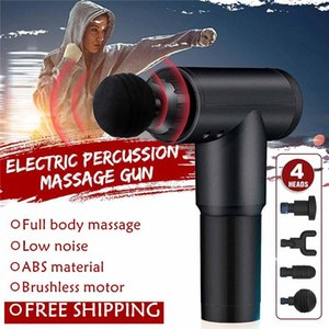 Free Ship Massage Gun Deep Muscle Relaxation Fascia Massager Portable Electric Massager Muscle Pain Relief Muscle Stimulator