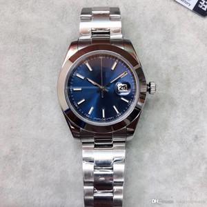 2020 핫 판매 U1 공장 남성 DATEJUST 41mm로 블루 다이얼 날짜 크라운 원래 버클 스테인레스 스틸 316L Automtic 기계 손목 시계