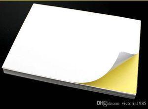 NEW A4 Klebstoff sticke Druckpapier White Blank Glossy Matt Aufkleber Paper Label Druckpapier 100 Blatt / lot