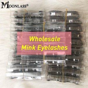 20 pares Pestañas 25mm Moonlass granel componen suave Mink Pestañas al por mayor de visón dramático 3D Lashes lujo pestañas postizas