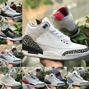 2020 Nike Air Jordan 3 Shoes Air max michael jordans retro  CEMENTO JSP 3M CHAPUCERO SP NEGRO Zapatos UNC azul PE Mocha Retroes 3 de baloncesto del Mens zapatillas deportivas