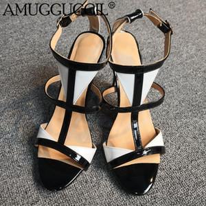 2020 New Plus Big Size 35-52 Black Buckle Fashion Sexy High Week Summer Party Wedding Girl Female Ladies Sandals L1133