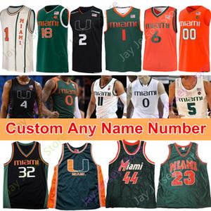2020 Miami Hurricanes Basketball Jersey NCAA College Chris Lykes Dejan Vasiljevic Kameron McGusty Isaiah Wong Harlond Beverly Barry Salmons