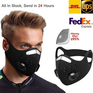 ABD stcok Bisiklet Koruyucu Eğitim MTB Yol Bisikleti Bisiklet Maskesi Koşu Karbon PM2.5 Karşıtı Kirlilik Spor Aktif Filtre Maske