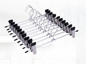 Cabides Para Roupas de Aço Inoxidável Clipe Stand Cabide Calças Saia Kid Roupas Apertado Pitada Aperto
