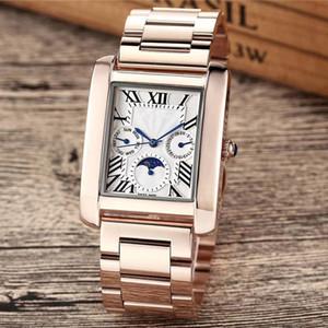 Top-Marke Männer Frauen Uhren hochwertige funktionale Unter Zifferblatt funktioniert Tag Datum Original Verschluss Edelstahlgehäuse wasserdicht Designer-Uhr