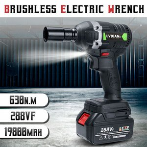 Dreamburgh New 630N.m Elektro Cordless Schlüssel Brushless Schlagschrauber 3000rpm Ratchet Treiber 288VF Li-Ionen-Akku Power Tools