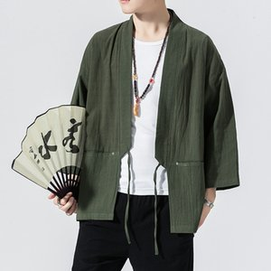 Mono Hırka Erkekler İnce Erkek Kimono Hırka Jacke