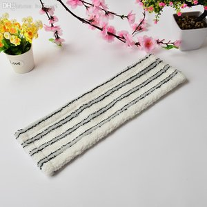 Wholesale-Grey And White Stripes Microfiber Cleaning Mop Cloth ,Flat Mop Head For Home Cleaning