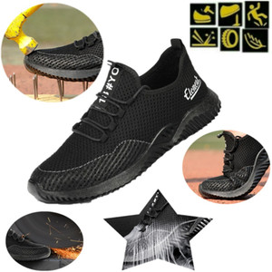 Safety Shoe Women Mens Steel Toe Cap Sport Outdoor Work Hiking Trail Breathable Shoes Protective Footwear Trainers Combat Ankle Boots