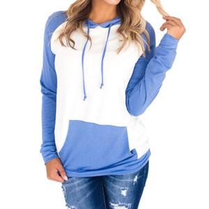 Hoodie Sweatshirts Ladies Women's Hoodies Women Stripe Long Sleeve Blouse Hooded Pocket Pullover Tops Shirt Sudadera Mujer