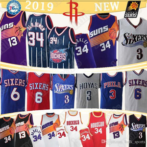 34 Olajuwon 34 Barkley Jersey 13 Nash All 3 Iverson Hakeem 6 Erving retro Basketball-Trikots