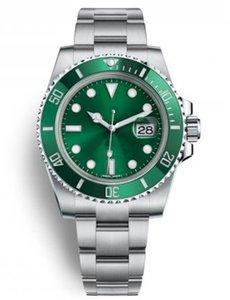 (8 couleurs) maître supérieure en série submersible 116610 40mm calendrier automatique de mode en acier inoxydable montre mécanique