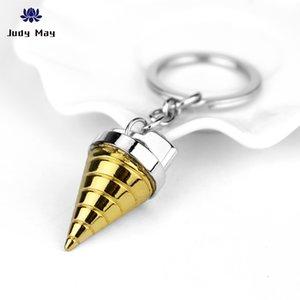 Tianyuan Percée du Gurren Lagann Gurren Lagann Bronze Keychain Conique Mech Warrior Forme Conique en alliage Keyrings Pour les fans