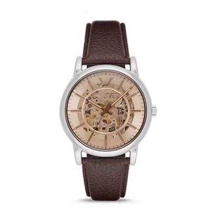 Luxury мужской дизайнер пояса ретро пояса подлинной моды мужской полые механические часы нейтральной часы коричневый с коробкой AR1982