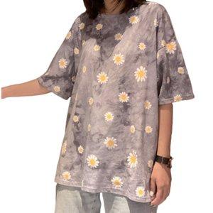 2020 Daisy Short Sleeve T-shirt Female Ins Fashionable Basic Loose Tshirt T Shirt Women Summer Top Tees Harajuku Plus Size