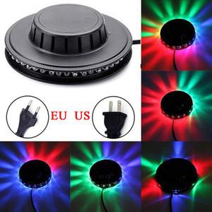 Mini 48 светодиодов RGB 8W Подсолнечного лазерного проектор Освещение диско свет этап Бар DJ Звук фон стена свет Christmas Party светильникам