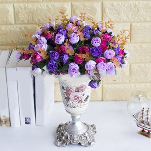 Silk Fake Diamond Roses Bouquet For Christmas Home Wedding New Year Decoration Fake Plants Artificial Flowers
