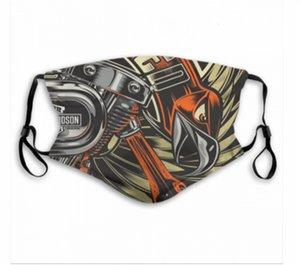 Motor Cycles lavabili riutilizzabili registrabili Designer maschera 2 in carbonio filtra sicuro sport all'aria aperta a prova di polvere viso traspirante mascherine del partito