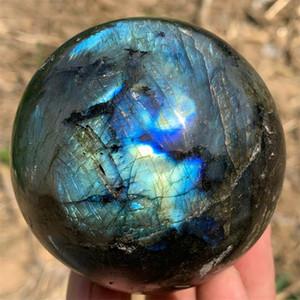 33lb de labradorite naturelle boule de cristal de quartz de roche de guérison