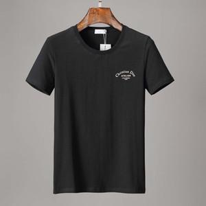 19ss progettista del mens camicie magliette firmati estate la stampa casuale Miscela camicia delle magliette del cotone Crew manica corta polo mens T 3310