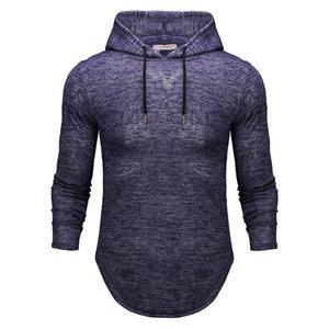 Plus Size Mens Designer Hoodies Art und Weise Fest Farbe Asymmetrisches langärmelige Kapuzenpulli 19AW Herrenkleidung