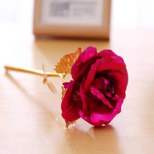 2016 24K Gold Foil Plated Rose Wedding Decoration Golden Rose Artificial Flower Only Flower Or Flower Base Blunt Power Air Freshener Car roh