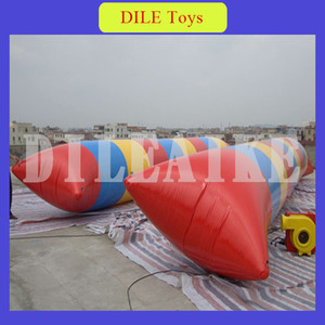 Lowest Price 0.9mm PVC Tarpaulin 7*2m Water Pillow Inflatable Water Blob Catapult with Free Shipping Free Pump