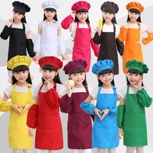 1 Set = Tablier + Chapeau + Manchon Tabliers Enfants Pocket Craft Cuisson Cuisson Art Peinture Enfants Cuisine Cuisine Bavoir Enfants Tabliers Enfants Tabliers 12 couleurs