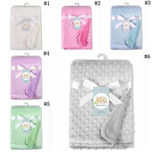 Bebê Peas Blanket 100 * 70 centímetros cama Set Sofá Blanket crianças macias de espuma mantas Tapetes saco de dormir DA334