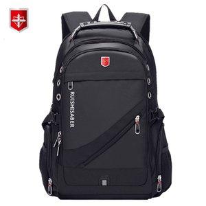 Oxford Swiss 17 дюймового ноутбук рюкзак Мужчины USB зарядки водонепроницаемого путешествия Рюкзак Женщина рюкзак Мужского Vintage School Bag Mochila SH190918