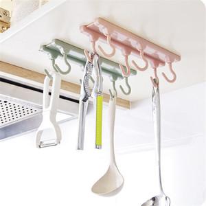 Mutfak Dolabı Kancalar 6 Asma Dekorasyon Ev Mutfak Depolama Asma Güçlü Kancalar Mutfak Aletleri Tutucu çengeller