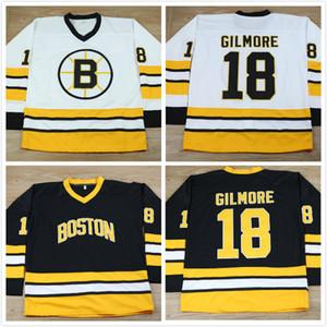 Винтаж Boston Bruins 18 Happy Gilmore Jersey черный белый фильм сшитый хоккейный свитер CCM размер S-XXXL